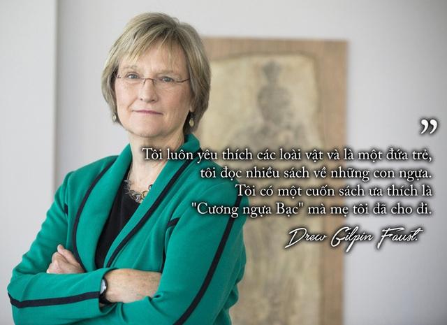Những định kiến về nữ giới được bà Drew Gilpin Faust phá bỏ.