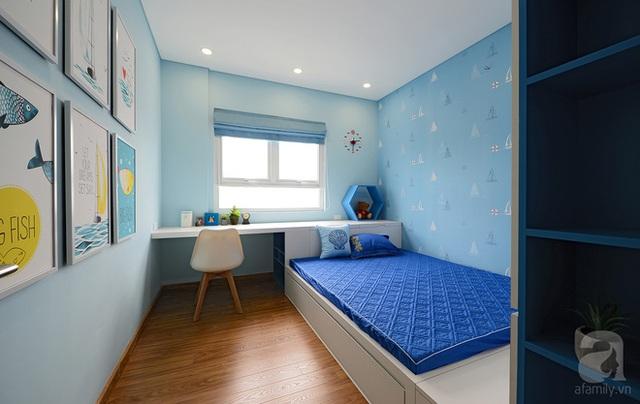 Cách bài trí trong phòng bé trai khá giống phòng bé gái.
