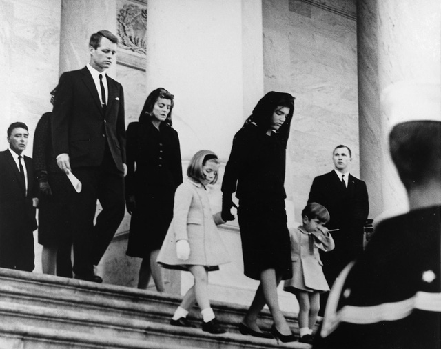 Cố Đệ nhất Phu nhân tại lễ tang của chồng, John F. Kennedy, ở thủ đô Washington ngày 25/11/1963