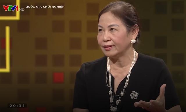 <br/>Bà Vũ Thị Thuận - Chủ tịch HĐQT Traphaco - trong chương trình Quốc gia Khởi nghiệp.<br/>