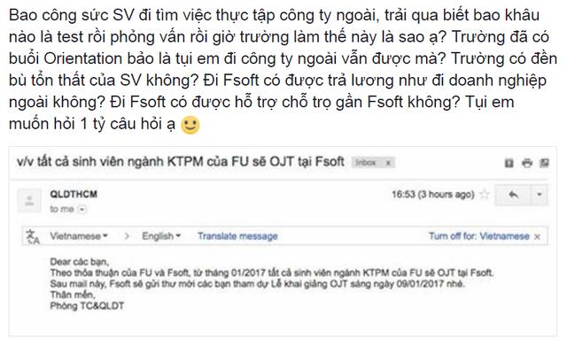 Thắc mắc của sinh viên Đại học FPT gửi tới nhà trường