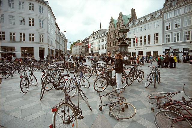 Đây là giờ cao điểm ở thủ đô Copenhagen, Đan Mạch