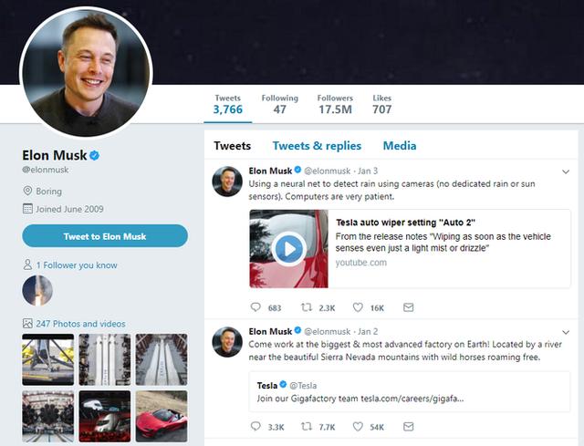Elon Musk chỉ theo dõi đúng 6 người dùng trên Twitter, đây là chân dung của họ - Ảnh 1.