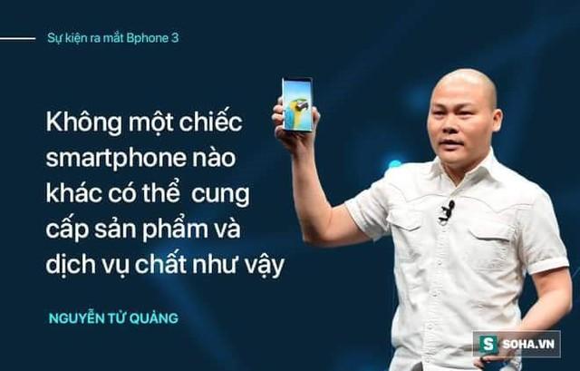 """Màn ra mắt Bphone 3 sẽ trọn vẹn hơn nếu CEO Nguyễn Tử Quảng không quá """"nổ""""? - Ảnh 4."""