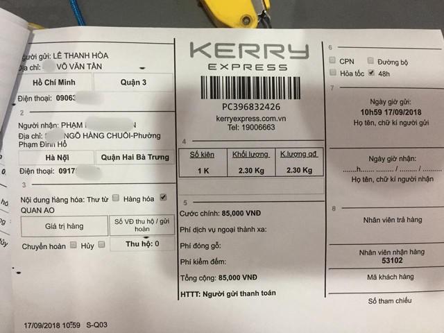 NTK Lê Thanh Hòa bức xúc vì doanh nghiệp Kerry Express làm thất lạc gói bưu phẩm trị giá hơn 65 triệu đồng, nhưng chỉ đền 320k - Ảnh 3.
