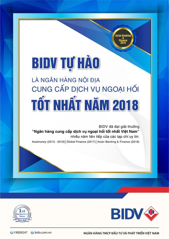 BIDV được Asian Banking & Finance trao giải thưởng Ngân hàng cung cấp dịch vụ ngoại hối tốt nhất Việt Nam - Ảnh 1.