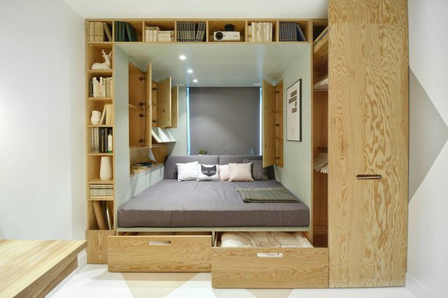 Với cách thiết kế thông minh, cô gái đã biến căn phòng 12m² đi thuê trở thành không gian sống vô cùng sang chảnh - Ảnh 3.