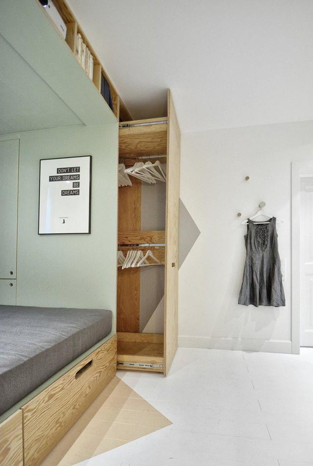 Với cách thiết kế thông minh, cô gái đã biến căn phòng 12m² đi thuê trở thành không gian sống vô cùng sang chảnh - Ảnh 5.