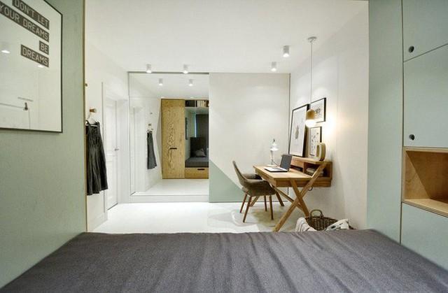 Với cách thiết kế thông minh, cô gái đã biến căn phòng 12m² đi thuê trở thành không gian sống vô cùng sang chảnh - Ảnh 7.
