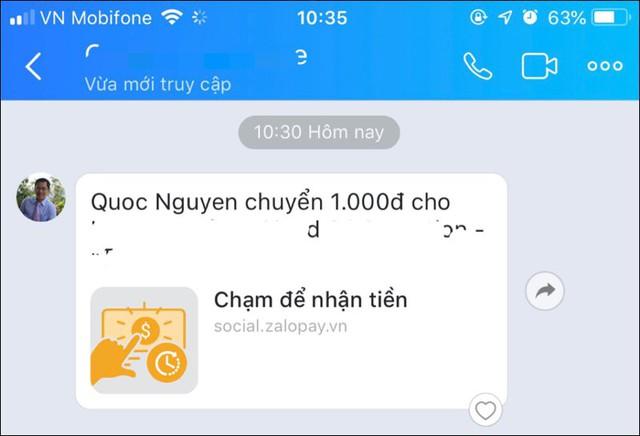 Đi trước cả Facebook Messenger 1 bước, giờ đây có thể vừa chat Zalo vừa chuyển tiền - Ảnh 2.