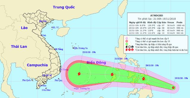 Xuất hiện áp thấp nhiệt đới có khả năng mạnh lên thành bão, hướng vào Nam Trung bộ - Ảnh 1.