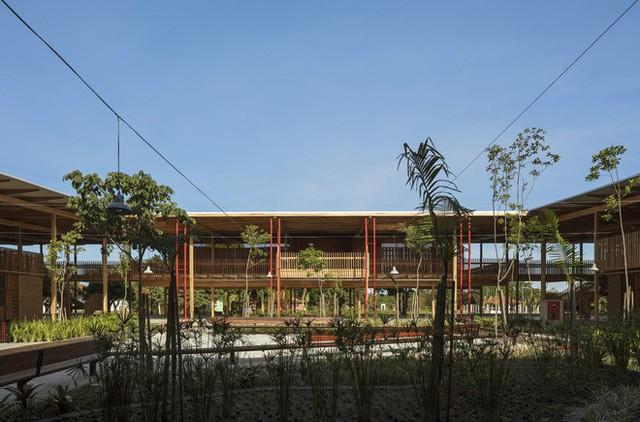 Ngôi trường làm từ gỗ và gạch bùn trong rừng nhiệt đới Brazil giành giải kiến trúc xuất sắc nhất thế giới 2018 - Ảnh 12.