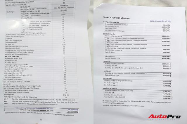 """Khách Việt mất thêm 300 triệu nếu mua mẫu sedan, SUV VinFast """"full option"""" - Ảnh 4."""