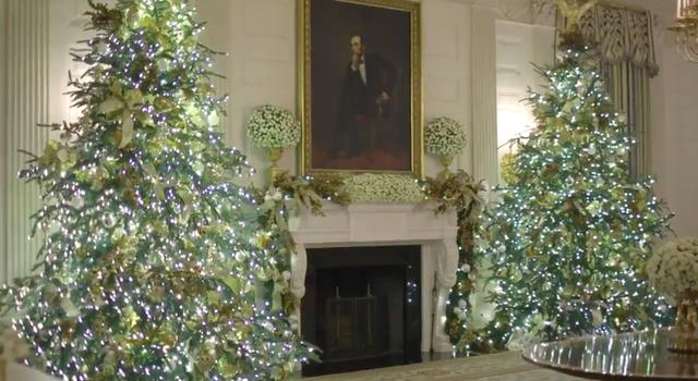 Trang trí Giáng sinh cho Nhà Trắng, bà Melania Trump gây tranh cãi khi sử dụng toàn cây thông màu đỏ - Ảnh 4.