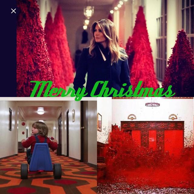 Trang trí Giáng sinh cho Nhà Trắng, bà Melania Trump gây tranh cãi khi sử dụng toàn cây thông màu đỏ - Ảnh 8.