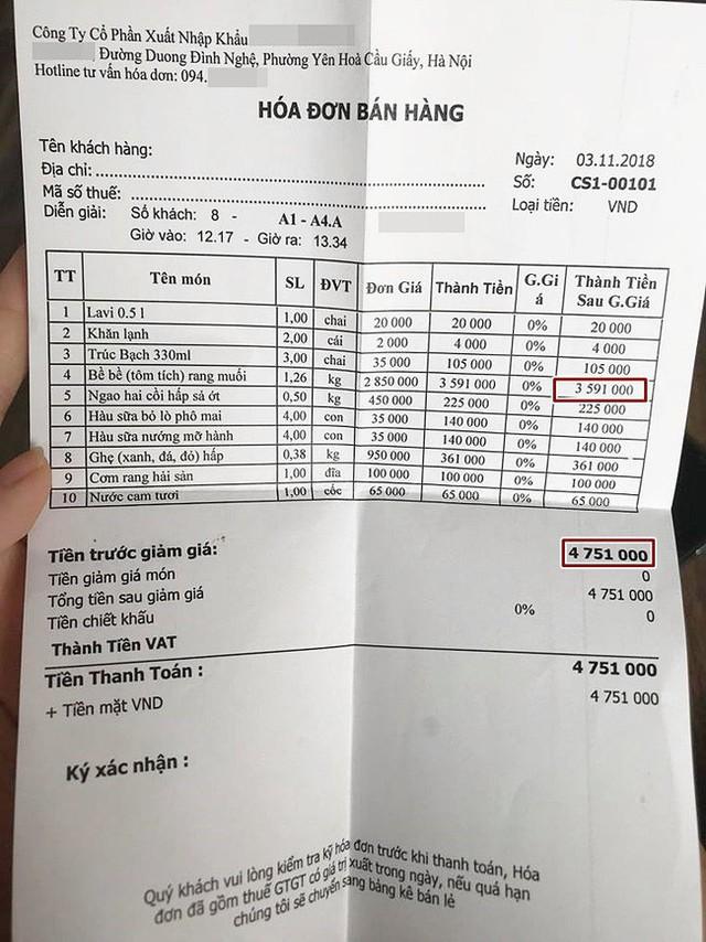 Vui chân sa vào nhà hàng hải sản, vợ chồng Hà Nội chóng mặt đọc hóa đơn hết nửa tháng lương, 3 triệu/4 con bề bề - Ảnh 1.