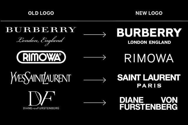 Logo của các thương hiệu thời trang cao cấp ngày càng giống nhau - Ảnh 2.