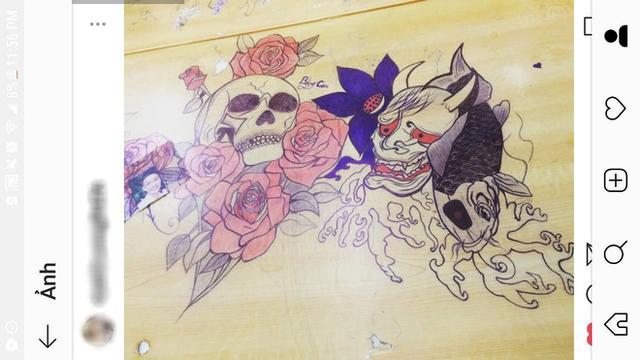 Rảnh tay vẽ giết thời gian, học sinh đã tạo nên siêu phẩm trên bàn tuyệt đỉnh thế này đây - Ảnh 6.