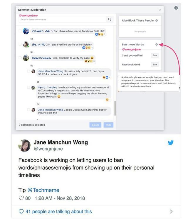 Facebook lại bắt chước Twitter, thử nghiệm tính năng cho người dùng tự chặn các từ, câu và emoji không thích trên Timeline - Ảnh 1.