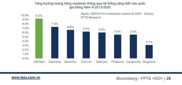 Bức tranh ngành cảng biển Việt Nam: Tăng trưởng lượng hàng container qua hệ thống cảng là 9,2%, cao nhất khu vực Đông Nam Á - Ảnh 1.