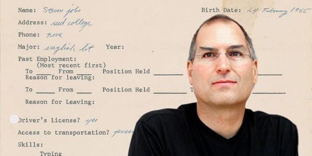 Steve Jobs viết sai cả tên công ty HP trong đơn xin việc của mình cách đây 45 năm - Ảnh 1.
