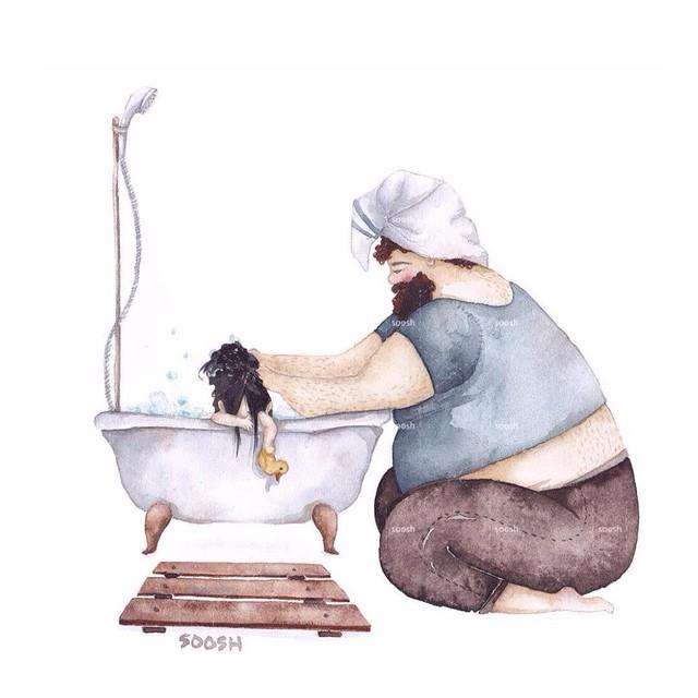 Phần tiếp theo của bộ tranh Vì con gái nhỏ, cha sẽ làm tất cả từng khiến cư dân mạng rưng rưng - Ảnh 4.