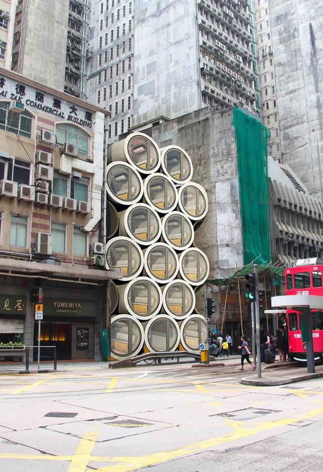 Giá nhà quá đắt đỏ, các kiến trúc sư Hồng Kông nghĩ ra cách xây dựng căn hộ mini bằng ống nước bê tông - Ảnh 6.