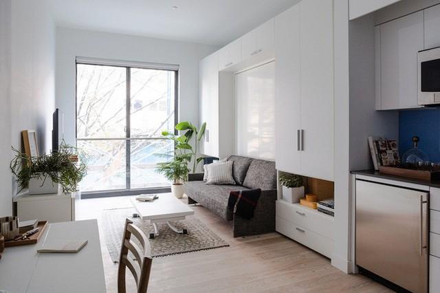 Căn hộ chung cư có diện tích chỉ khoảng 25m² nhưng không thiếu một khu vực chức năng nào mà lại còn đẹp đến ngẩn ngơ - Ảnh 3.