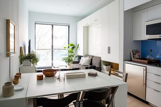 Căn hộ chung cư có diện tích chỉ khoảng 25m² nhưng không thiếu một khu vực chức năng nào mà lại còn đẹp đến ngẩn ngơ - Ảnh 4.