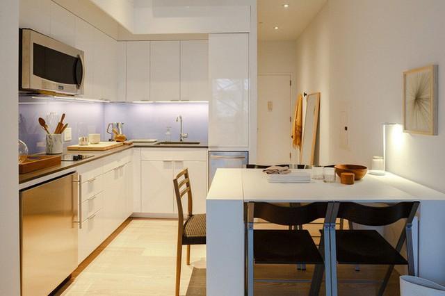 Căn hộ chung cư có diện tích chỉ khoảng 25m² nhưng không thiếu một khu vực chức năng nào mà lại còn đẹp đến ngẩn ngơ - Ảnh 5.