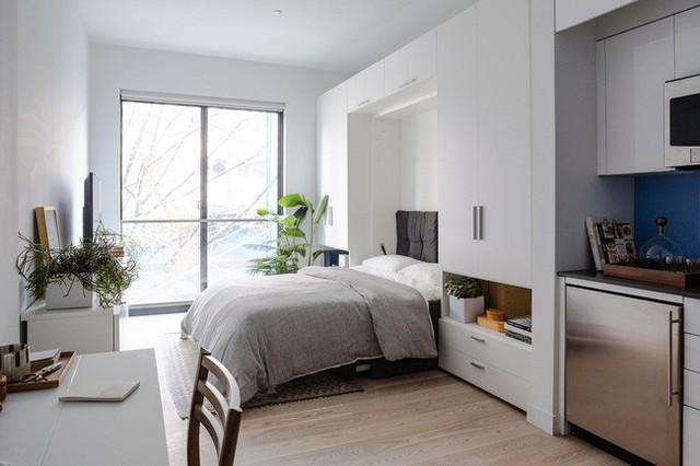 Căn hộ chung cư có diện tích chỉ khoảng 25m² nhưng không thiếu một khu vực chức năng nào mà lại còn đẹp đến ngẩn ngơ - Ảnh 7.