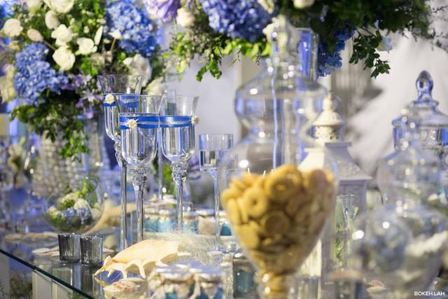 Cận cảnh đám cưới kỳ công xanh màu đại dương của Shark Hưng và cô dâu Á hậu - Ảnh 29.