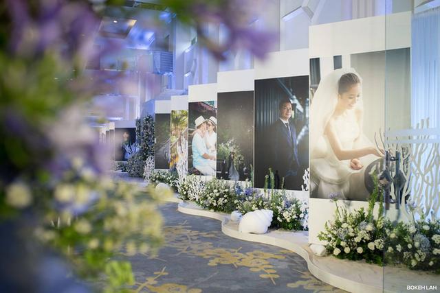 Cận cảnh đám cưới kỳ công xanh màu đại dương của Shark Hưng và cô dâu Á hậu - Ảnh 7.