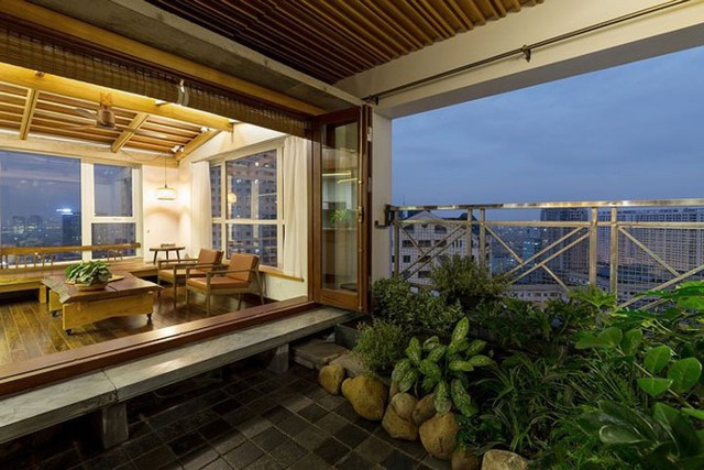 Căn hộ chung cư tràn ngập không gian xanh giữa Thủ đô - Ảnh 5.