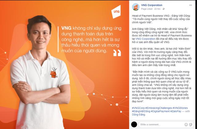 Cựu Giám đốc Uber Dũng Đặng đầu quân cho ZaloPay cùng với lời tuyên bố: Tôi muốn cùng người Việt thay đổi cuộc sống của chính người Việt!  - Ảnh 1.