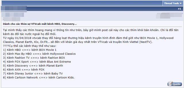 Cho rằng VTVCab chỉ đổi tên chứ không phải cắt kênh, nam thanh niên bị cộng đồng mạng phản ứng dữ dội - Ảnh 1.