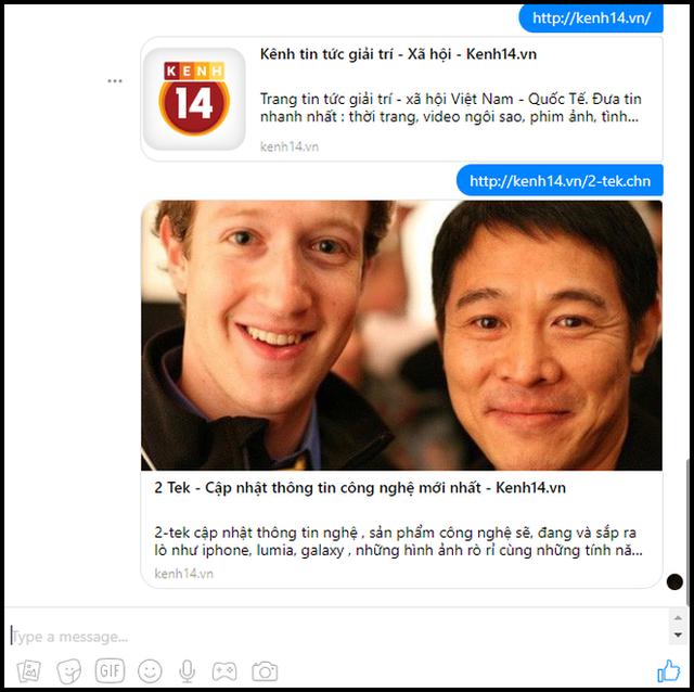Facebook Messenger bản web gặp lỗi gửi link, đây là cách khắc phục chỉ 1 giây là xong - Ảnh 3.