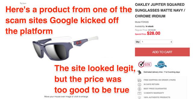 Nhân viên bị lừa mua hàng tại Việt Nam, Google mở cuộc điều tra lớn vào các shop bán hàng online lừa đảo - Ảnh 1.
