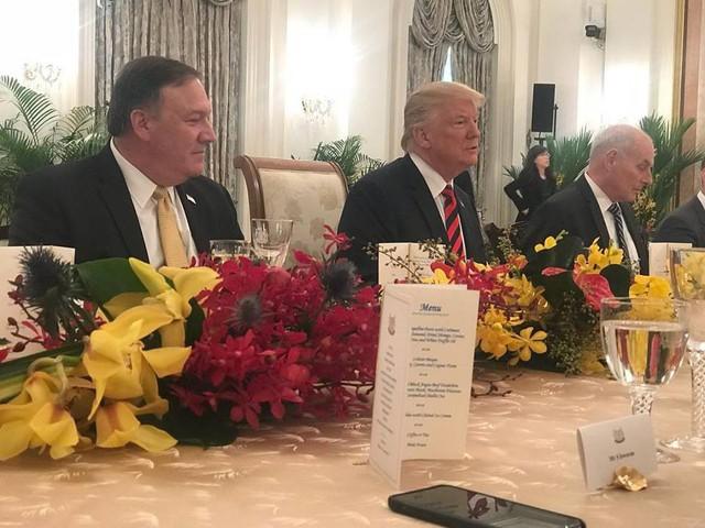 Ông Trump bất ngờ được Thủ tướng Lý Hiển Long tổ chức sinh nhật sớm tại Singapore - Ảnh 4.