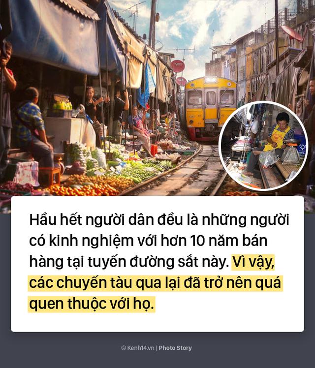 Ở Thái Lan có 1 khu chợ nằm chình ình ngay trên đường ray tàu hỏa - Ảnh 5.
