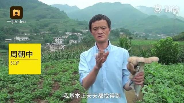Bản sao tỉ phú Jack Ma đứng giữa đường bán nấm dại Thế giới - Ảnh 2.