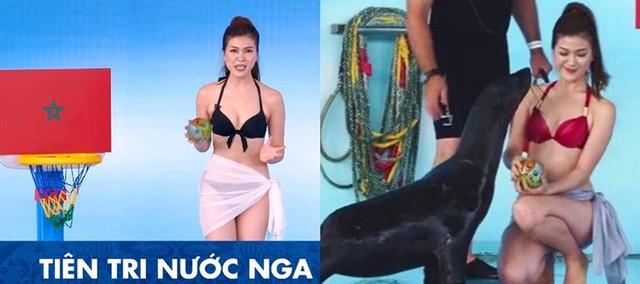 """đầu tư giá trị - photo 1 15298967732581447683532 - Bị """"ném đá"""", MC của K+ bỏ bikini chuyển sang mặc đồ lặn kín đáo dẫn chương trình World Cup"""