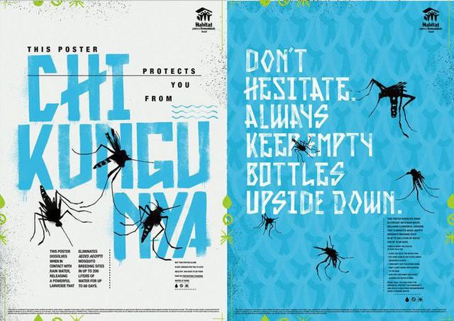 Chuyện thật như đùa: Poster tuyên truyền tan ra trong mưa để diệt trừ muỗi - Ảnh 2.