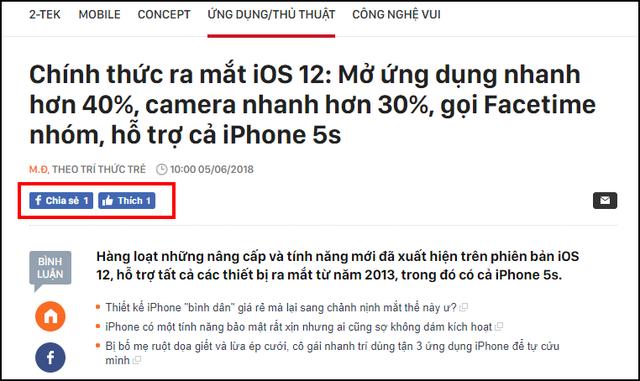 Apple vừa công khai nã súng vào Facebook với 2 tính năng mới trên iOS 12 - Ảnh 1.