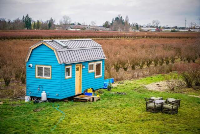 Chán cảnh thuê nhà đắt đỏ, cặp vợ chồng tự xây căn nhà nhỏ xíu nhưng đầy đủ tiện nghi giữa cánh đồng - Ảnh 2.