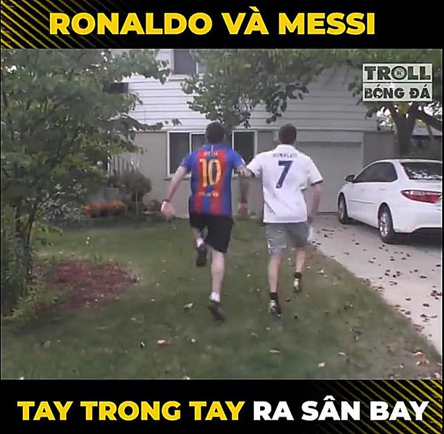 Dân mạng chế ảnh Messi và Ronaldo dắt tay nhau rời World Cup 2018 - Ảnh 8.