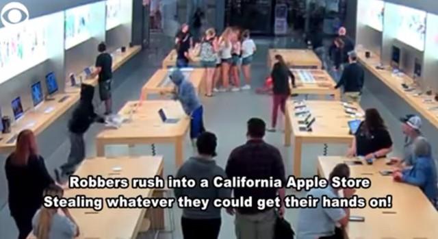 Cửa hàng Apple bị cướp iPhone, MacBook trị giá 27 ngàn USD chỉ trong vài giây - Ảnh 1.