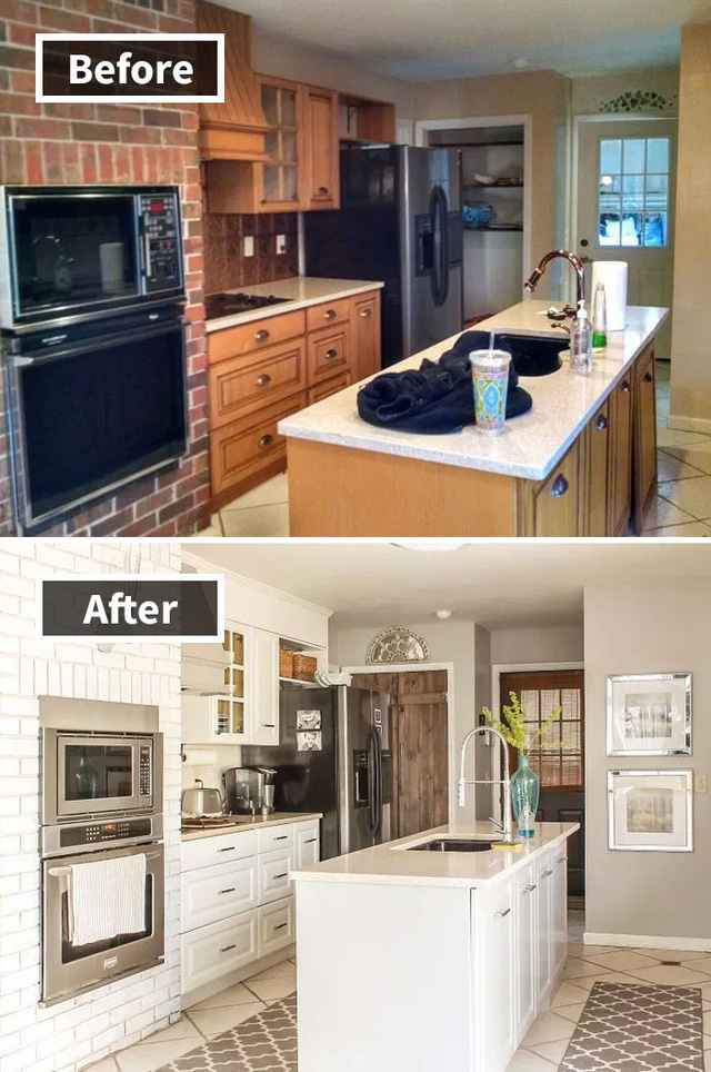 Những hình ảnh trước và sau khi phòng cũ được phù phép thành phòng mới khiến quý khách chẳng thể tin vào mắt mình - Ảnh 12.