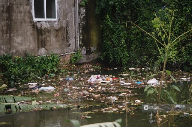Chùm ảnh: 1 tuần sau lũ lớn, người dân Hà Nội vẫn phải chèo thuyền di chuyển giữa biển rác thải nổi lềnh bềnh - Ảnh 13.