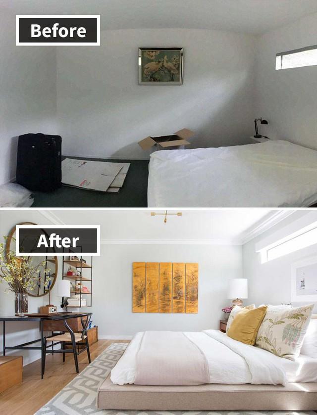 Những hình ảnh trước và sau khi phòng cũ được phù phép thành phòng mới khiến quý khách chẳng thể tin vào mắt mình - Ảnh 13.